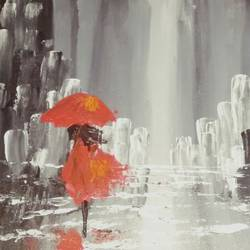 rainy day, 18 x 14 inch, kritika khullar,abstract paintings,paintings for living room,canvas board,acrylic color,18x14inch,GAL011162856