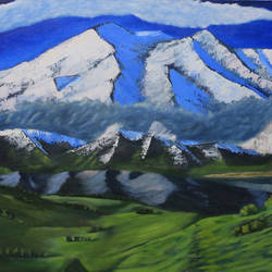 mountain valley, 49 x 24 inch, kailash chand,49x24inch,canvas,paintings,landscape paintings,oil color,GAL01639228562