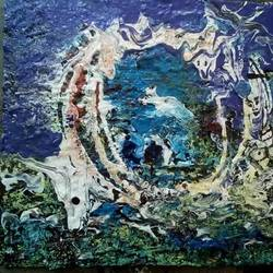 work, 8 x 6 inch, avishek  ghosh,8x6inch,hardboard,abstract paintings,wildlife paintings,abstract expressionism paintings,acrylic color,pastel color,GAL0893228567