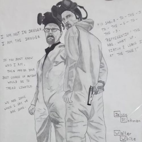 breaking bad, 10 x 12 inch, sakshi jain,10x12inch,thick paper,drawings,figurative drawings,modern drawings,paintings for dining room,paintings for living room,paintings for bedroom,paintings for office,paintings for kids room,paper,GAL01657328573