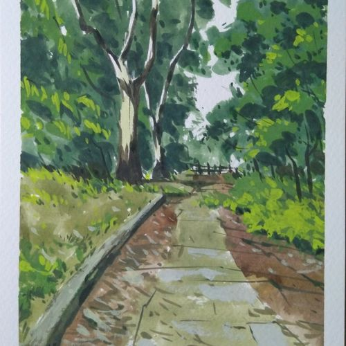 botanical garden series 6, 8 x 6 inch, arnab bhattacharjee,8x6inch,brustro watercolor paper,paintings,nature paintings | scenery paintings,paintings for dining room,paintings for living room,paintings for bedroom,paintings for office,paintings for kids room,paintings for hotel,paintings for school,paintings for hospital,watercolor,GAL0890228589