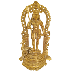 decorative lord kantha brass statue with arch, 5 x 15 inch, vgo cart,5x15inch,canvas board,religious statues,brass,GAL01132728598