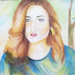 role model , 23 x 17 inch, shabana hussain,23x17inch,cartridge paper,drawings,paintings for bedroom,abstract drawings,art deco drawings,portrait drawings,paintings for bedroom,acrylic color,fabric,watercolor,paper,GAL01705028622