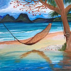 beach view, 20 x 20 inch, diksha lad,20x20inch,canvas,abstract paintings,landscape paintings,nature paintings | scenery paintings,acrylic color,GAL01201128626