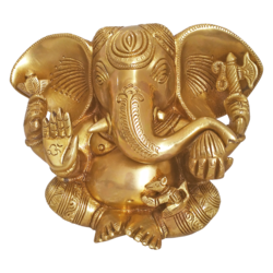 holy modern god sri mahaganapathy brass idol, 3 x 6 inch, vgo cart,3x6inch,canvas board,handicrafts,ganesha statue,brass,GAL01132728631