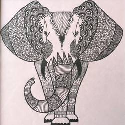 elephant ink doodle art, black and white drawing, animal art, , 11 x 16 inch, ruchita kothari,11x16inch,drawing paper,drawings,figurative drawings,fine art drawings,paintings for dining room,paintings for living room,paintings for bedroom,paintings for office,paintings for bathroom,paintings for kids room,paintings for hotel,paintings for kitchen,paintings for school,paintings for hospital,ink color,pen color,paper,GAL01697328657