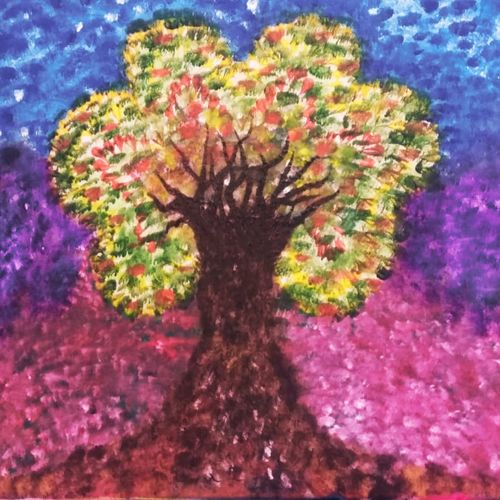 tree reflecting different flavors of life, 24 x 18 inch, pallavi parihar,24x18inch,canvas,paintings,abstract paintings,landscape paintings,modern art paintings,paintings for dining room,paintings for living room,paintings for bedroom,paintings for dining room,paintings for living room,paintings for bedroom,acrylic color,GAL0677928667