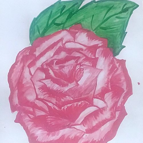 rose with leafs, 9 x 11 inch, mrs. kalyani lahon,love paintings,paintings for bedroom,flower paintings,paper,poster color,9x11inch,GAL06572867heart,family,caring,happiness,forever,happy,trust,passion,romance,sweet,kiss,love,hugs,warm,fun,kisses,joy,friendship,marriage,chocolate,husband,wife,forever,caring,couple,sweetheart