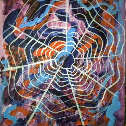 cobweb, 8 x 12 inch, priyanka  dey,8x12inch,thick paper,paintings,abstract paintings,paintings for dining room,paintings for living room,paintings for bedroom,paintings for hotel,acrylic color,GAL01206828679