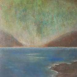 evening by the lake , 9 x 9 inch, shobhna gujadhur,9x9inch,paper,paintings,abstract paintings,landscape paintings,paintings for dining room,paintings for living room,paintings for bedroom,paintings for office,acrylic color,GAL01750628686