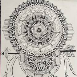 dreamcatcher , 11 x 14 inch, himani dubey,11x14inch,drawing paper,fine art drawings,pen color,ball point pen,paper,GAL01751128699
