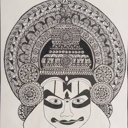 mandala art , 11 x 14 inch, himani dubey,11x14inch,drawing paper,drawings,fine art drawings,realism drawings,pen color,ball point pen,paper,GAL01751128701