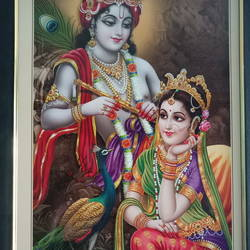 lord krishna, 8 x 15 inch, sainath reddy,8x15inch,canvas board,paintings,religious paintings,paintings for bedroom,natural color,oil color,GAL01701728707