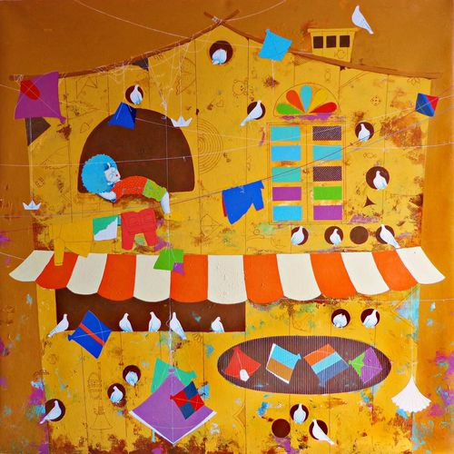 my dream home, 48 x 48 inch, shiv kumar soni,48x48inch,canvas,paintings,abstract paintings,figurative paintings,modern art paintings,conceptual paintings,portrait paintings,abstract expressionism paintings,art deco paintings,expressionism paintings,illustration paintings,impressionist paintings,pop art paintings,portraiture,realism paintings,street art,surrealism paintings,realistic paintings,love paintings,baby paintings,children paintings,kids paintings,paintings for dining room,paintings for living room,paintings for bedroom,paintings for office,paintings for kids room,paintings for hotel,paintings for school,paintings for hospital,acrylic color,GAL03028716