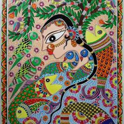 treeoflife, 13 x 18 inch, monalisha nayak,13x18inch,ivory sheet,paintings,conceptual paintings,animal paintings,madhubani paintings | madhubani art,paintings for dining room,paintings for living room,paintings for bedroom,paintings for office,paintings for kids room,paintings for hotel,paintings for school,paintings for hospital,acrylic color,paper,GAL01712228735