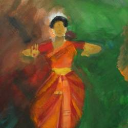 dancer 3, 12 x 10 inch, neha  agarwal,12x10inch,thick paper,paintings,abstract paintings,paintings for dining room,paintings for living room,paintings for bedroom,paintings for office,paintings for hotel,paintings for school,paintings for hospital,poster color,paper,GAL01749628744