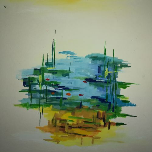 abstract nature 1, 11 x 14 inch, neha  agarwal,11x14inch,thick paper,paintings,abstract paintings,landscape paintings,paintings for dining room,paintings for living room,paintings for bedroom,paintings for office,paintings for hotel,paintings for school,paintings for hospital,poster color,paper,GAL01749628759