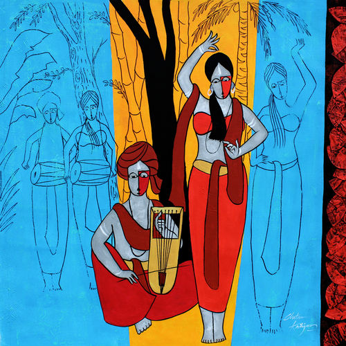 twosome, 28 x 28 inch, chetan katigar,28x28inch,canvas,abstract paintings,figurative paintings,foil paintings,cityscape paintings,modern art paintings,multi piece paintings,religious paintings,portrait paintings,nature paintings | scenery paintings,abstract expressionism paintings,art deco paintings,expressionism paintings,impressionist paintings,radha krishna paintings,contemporary paintings,realistic paintings,love paintings,paintings for living room,paintings for bedroom,paintings for office,paintings for hotel,paintings for living room,paintings for bedroom,paintings for office,paintings for hotel,acrylic color,GAL026628766