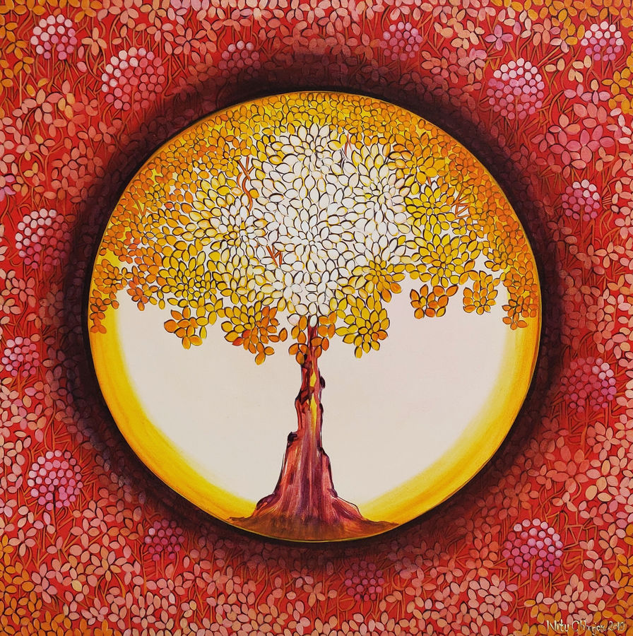 shades of life - series one, 30 x 30 inch, nitu chhajer,30x30inch,canvas,paintings,nature paintings | scenery paintings,acrylic color,GAL058228789