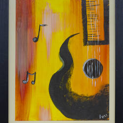 musical note, 15 x 19 inch, anu ranganath,15x19inch,canvas,paintings,abstract paintings,modern art paintings,paintings for living room,paintings for bedroom,paintings for hotel,paintings for school,acrylic color,GAL01706328792