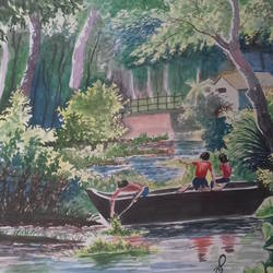 landscape, 15 x 21 inch, shiuli majumder,15x21inch,handmade paper,paintings,nature paintings | scenery paintings,watercolor,GAL01355228825