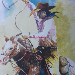 horse rider, 15 x 21 inch, shiuli majumder,15x21inch,cartridge paper,paintings,figurative paintings,watercolor,GAL01355228827