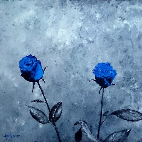two blues, 22 x 17 inch, anas babi,22x17inch,canvas,paintings,abstract paintings,flower paintings,modern art paintings,abstract expressionism paintings,photorealism paintings,photorealism,realism paintings,contemporary paintings,realistic paintings,paintings for dining room,paintings for living room,paintings for bedroom,paintings for office,paintings for bathroom,paintings for kids room,paintings for hotel,paintings for kitchen,paintings for school,paintings for hospital,acrylic color,GAL0138428848