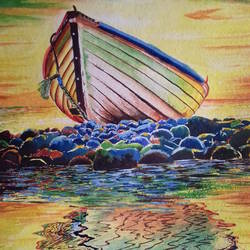 sea beach, 22 x 29 inch, shiuli majumder,22x29inch,handmade paper,paintings,nature paintings | scenery paintings,watercolor,GAL01355228854