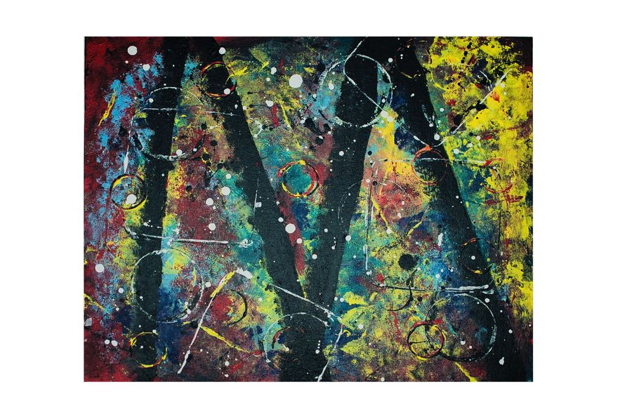 beautiful colour abstract, 20 x 16 inch, shallu kaur,20x16inch,canvas,abstract paintings,paintings for dining room,paintings for living room,paintings for office,paintings for hotel,paintings for dining room,paintings for living room,paintings for office,paintings for hotel,acrylic color,GAL01713328860