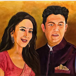 18kgold oil painting , 8 x 10 inch, manisha  vilas ,8x10inch,canvas,portrait paintings,paintings for living room,paintings for living room,oil color,GAL01770928876