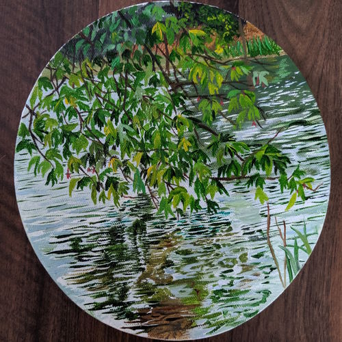 reflections  in a lake, 8 x 8 inch, sahithi paleti,8x8inch,canvas,flower paintings,landscape paintings,photorealism paintings,paintings for dining room,paintings for living room,paintings for bedroom,paintings for office,paintings for bathroom,paintings for kids room,paintings for hotel,paintings for kitchen,paintings for school,paintings for hospital,paintings for dining room,paintings for living room,paintings for bedroom,paintings for office,paintings for bathroom,paintings for kids room,paintings for hotel,paintings for kitchen,paintings for school,paintings for hospital,acrylic color,oil color,GAL0782528882