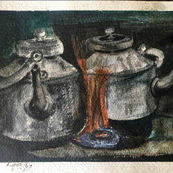 chai anyone?, 9 x 12 inch, rajnish gururaj,9x12inch,thick paper,paintings,impressionist paintings,watercolor,paper,GAL01773828904