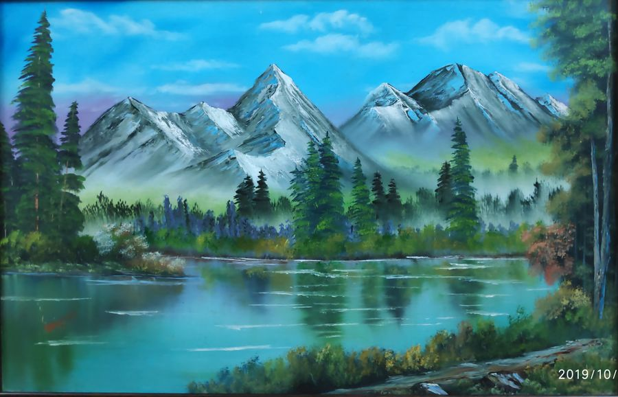 glorious mountains , 28 x 18 inch, dr dileep  k j,28x18inch,canvas board,landscape paintings,nature paintings | scenery paintings,paintings for living room,paintings for bedroom,paintings for office,paintings for hotel,paintings for living room,paintings for bedroom,paintings for office,paintings for hotel,oil color,GAL01771028917