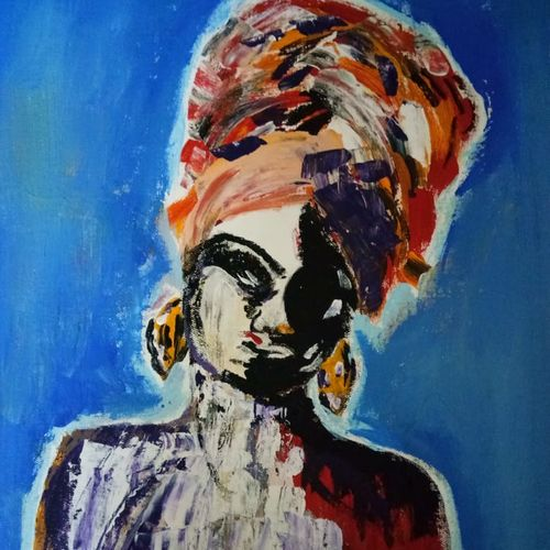 the lady - a contemporary art piece, 14 x 18 inch, v s gaurav narayan,14x18inch,canvas board,paintings,abstract paintings,modern art paintings,contemporary paintings,paintings for dining room,paintings for living room,paintings for bedroom,paintings for office,paintings for bathroom,paintings for kids room,paintings for hotel,paintings for kitchen,paintings for school,paintings for hospital,acrylic color,GAL01045428927