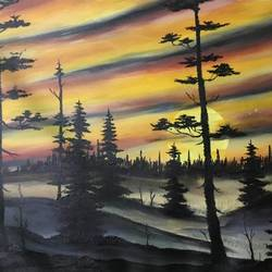 sunset, 23 x 20 inch, shankhadeep  mondal,23x20inch,canvas,paintings,landscape paintings,paintings for dining room,paintings for living room,paintings for bedroom,paintings for office,paintings for kids room,paintings for hotel,paintings for kitchen,paintings for school,paintings for hospital,acrylic color,GAL01403028938