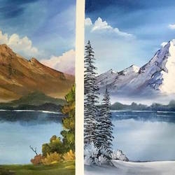 if winter comes, can spring be far behind...., 36 x 21 inch, shankhadeep  mondal,36x21inch,canvas,paintings,landscape paintings,paintings for dining room,paintings for living room,paintings for office,paintings for bathroom,paintings for kids room,paintings for hotel,paintings for kitchen,paintings for school,paintings for hospital,acrylic color,GAL01403028939