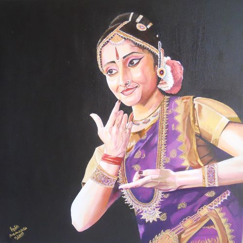 indian culture( beautifull girl), 25 x 25 inch, amruta dabhekar,portrait paintings,paintings for office,canvas,oil paint,25x25inch,GAL09542894