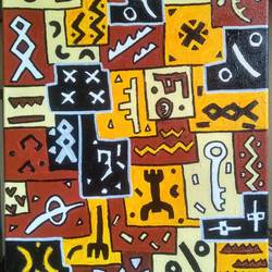 kuba_sd1, 10 x 12 inch, scharada dubey,10x12inch,canvas,paintings,folk art paintings,paintings for dining room,paintings for living room,paintings for office,paintings for hotel,paintings for hospital,acrylic color,ink color,pen color,GAL01779228946