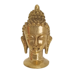 meditating brass buddha face statue, 6 x 3 inch, vgo cart,6x3inch,canvas,handicrafts,brass statue,brass,GAL01132728957