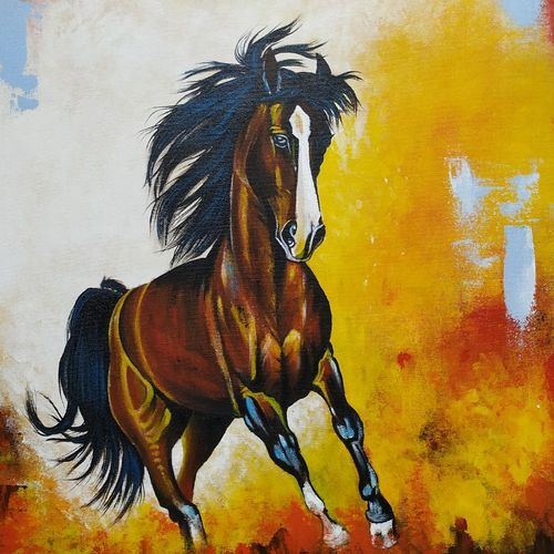 gladiator, 20 x 30 inch, sandhya singh,20x30inch,canvas,paintings,abstract paintings,wildlife paintings,animal paintings,horse paintings,paintings for dining room,paintings for living room,paintings for bedroom,paintings for office,paintings for bathroom,paintings for hotel,paintings for school,paintings for hospital,acrylic color,GAL0874928987