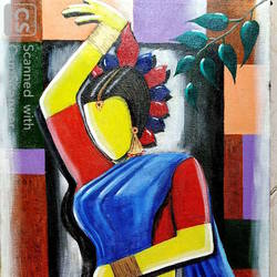 dancer, 16 x 30 inch, rajyasree pal,16x30inch,canvas,paintings,abstract paintings,acrylic color,GAL01784728991