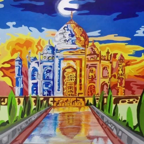 emotions of taj, 25 x 20 inch, omkar  khard ,25x20inch,canvas,modern art paintings,conceptual paintings,abstract expressionism paintings,art deco paintings,expressionism paintings,illustration paintings,paintings for living room,paintings for bedroom,paintings for hotel,paintings for living room,paintings for bedroom,paintings for hotel,acrylic color,GAL01721628999