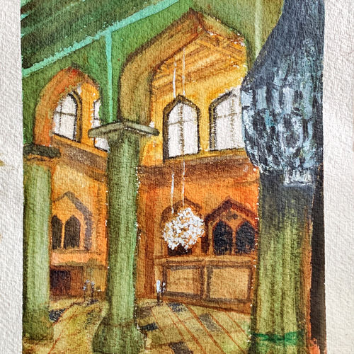 sun light for the chandeliers, 9 x 12 inch, rajnish gururaj,9x12inch,thick paper,paintings,watercolor,graphite pencil,GAL01773829006