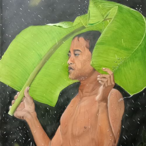 barish......, 25 x 34 inch, ila  singh,25x34inch,canvas,paintings,figurative paintings,conceptual paintings,portrait paintings,nature paintings | scenery paintings,expressionism paintings,illustration paintings,impressionist paintings,photorealism paintings,photorealism,realism paintings,realistic paintings,children paintings,paintings for dining room,paintings for living room,paintings for bedroom,paintings for office,paintings for kids room,paintings for hotel,paintings for school,paintings for hospital,oil color,GAL0795929009