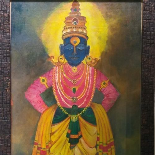 pandurang painting, 14 x 19 inch, samarth shejale,14x19inch,canvas,paintings,religious paintings,paintings for living room,paintings for office,acrylic color,GAL01786629012