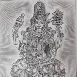 goddess, 12 x 17 inch, samarth shejale,12x17inch,thick paper,graffiti drawings,graphite pencil,GAL01786629014