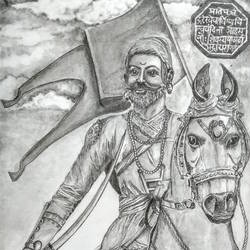 chhatrapati shivaji maharaj, 12 x 17 inch, samarth shejale,12x17inch,thick paper,drawings,paintings for office,figurative drawings,paintings for living room,paintings for office,graphite pencil,paper,GAL01786629020
