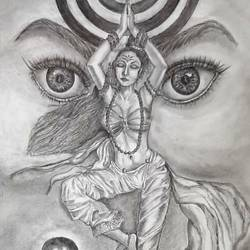 devotion, 12 x 14 inch, samarth shejale,12x14inch,thick paper,drawings,folk drawings,paintings for living room,paintings for office,graphite pencil,paper,GAL01786629021