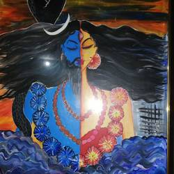 shiva parvati , 21 x 28 inch, sheetal agrawal,21x28inch,cartridge paper,paintings,religious paintings,acrylic color,GAL01792329049