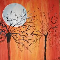 moon painting, 16 x 12 inch, sheetal agrawal,16x12inch,cartridge paper,paintings,modern art paintings,nature paintings | scenery paintings,paintings for dining room,paintings for living room,paintings for bedroom,paintings for office,paintings for kids room,paintings for hotel,paintings for kitchen,paintings for school,paintings for hospital,poster color,GAL01792329054
